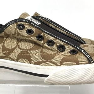 Coach Women's Shoes Size 5.5B Brown Suede Sneakers